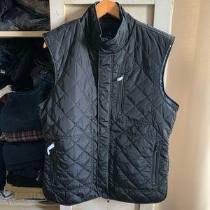NEW Tailorbyrd Black Quilted Zip-Pocket Vest